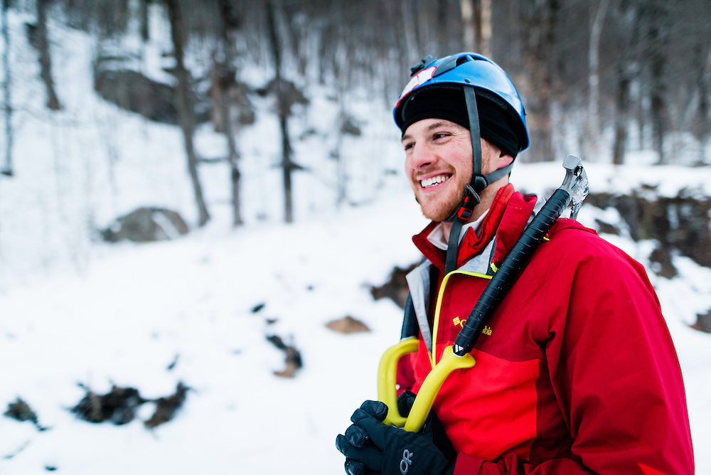 AMC Ice Climbing Leader after a hard day of instruction