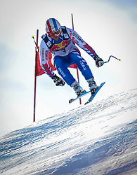 24.01.2013, Streif, Kitzbuehel, AUT, FIS Weltcup Ski Alpin, Abfahrt, Herren, 3. Training, im Bild David Poisson (FRA) // David Poisson of France in action during 3th practice of mens Downhill of the FIS Ski Alpine World Cup at the Streif course, Kitzbuehel, Austria on 2013/01/24. EXPA Pictures © 2013, PhotoCredit: EXPA/ Erich Spiess