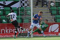 Fotball , 10. august 2013, Tippeligaen Eliteserien , Sogndal - Molde<br /> Malick Mane Sogndal. Joona Toivio, Ørjan Nyland Molde<br /> Foto: Christian Blom , Digitalsport