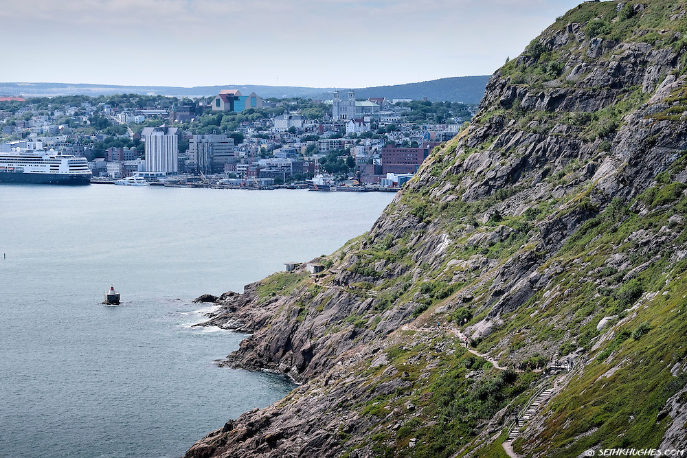 The North Head Trail leading through the narrows into St. John's, Newfoundland, Canada.