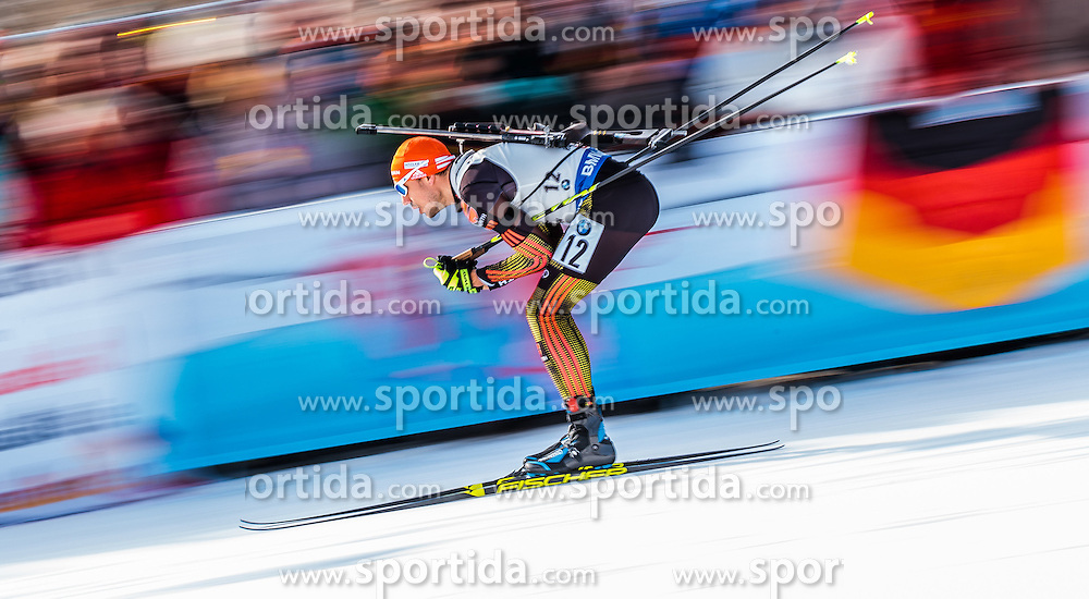 12.02.2017, Biathlonarena, Hochfilzen, AUT, IBU Weltmeisterschaften Biathlon, Hochfilzen 2017, Verfolgung Herren, im Bild Arnd Peiffer (GER) // Arnd Peiffer of Germany during Mens pursuit of the IBU Biathlon World Championships at the Biathlonarena in Hochfilzen, Austria on 2017/02/12. EXPA Pictures © 2017, PhotoCredit: EXPA/ JFK