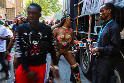 Day two of the Notting Hill Carnival in West London is in full swing, as performers floats form the procession in what is known as Europe's biggest Street Party. London, August 26 2019.