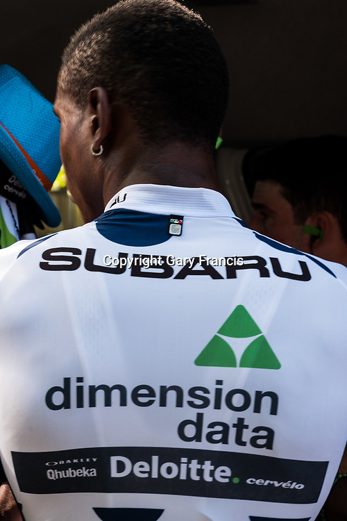 Nicolas Dlamini at the start of Stage 4, Norwood to Uraidla, of the Tour Down Under, Australia on the 19 of January 2018 ( Credit Image: © Gary Francis / ZUMA WIRE SERVICE )