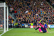 Goal Barcelona forward Luis Suárez (9) scores a goal 1-0 during the Champions League semi-final leg 1 of 2 match between Barcelona and Liverpool at Camp Nou, Barcelona, Spain on 1 May 2019.