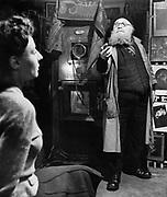 Artist in studio, 1940s