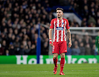 LONDON,ENGLAND - DECEMBER 05: Atletico Madrid (8) Saúl Niguez during the UEFA Champions League group C match between Chelsea FC and Atletico Madrid at Stamford Bridge on December 5, 2017 in London, United Kingdom.  <br /> ( Photo by Sebastian Frej / MB Media )