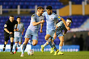 Maxime Biamou of Coventry City (9) comes away with the ball during the EFL Sky Bet League 1 match between Coventry City and Rotherham United at the Trillion Trophy Stadium, Birmingham, England on 25 February 2020.