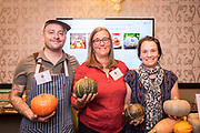 WINTER SQUASH, Cucurbita maxima<br /> Researcher: Alex Stone, Oregon State University <br /> Chef: Timothy Wastell, Antica Terra<br /> Dish: Dry-farmed 'Sunshine' and golden milk pavlova
