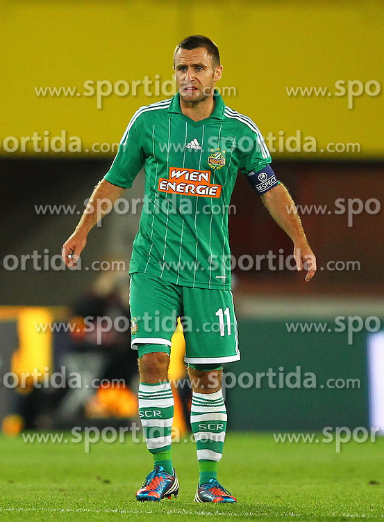 20.09.2012, Ernst Happel Stadion, Wien, AUT, UEFA Europa League, SK Rapid Wien vs Rosenborg Trondheim, Gruppe Steffen Hofmann (SK Rapid Wien, #11) Guimaraes Ferreira Gerson (SK Rapid Wien, #35) enttauescht nach dem 0 zu 1 durch Tarik Elyounoussi (Rosenborg Trondheim, #17) // during the UEFA Europa League group K match between SK Rapid Vienna and Rosenborg Trondheim at the Ernst Happel Stadion, Vienna, Austria on 2012/09/20. EXPA Pictures © 2012, PhotoCredit: EXPA/ Patrick Leuk