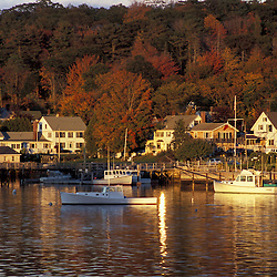 Boothbay Harbor, ME.... Boothbay Harbor, Maine in fall.