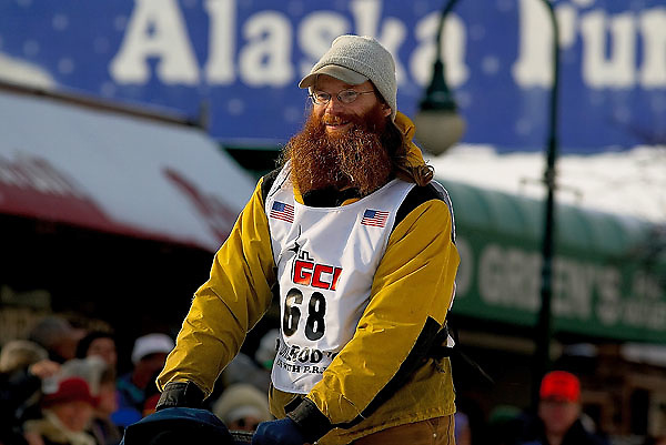04 March 2006: Anchorage, Alaska - Trent Herbst during the Ceremonial Start in downtown Anchorage of the 2006 Iditarod Sled Dog Race