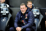 Reading goalkeeping coach Dave Beasant during the EFL Sky Bet Championship match between Swansea City and Reading at the Liberty Stadium, Swansea, Wales on 27 October 2018.