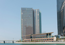 View of Four Seasons Hotel on Al Maryah Island in Abu Dhabi , UAE, United Arab Emirates.