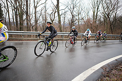 Krista Doebel-Hickok (USA) of Cylance Pro Cycling leans into a corner during the Trofeo Alfredo Binda - a 131,1 km road race, between Taino and Cittiglio on March 18, 2018, in Varese, Italy. (Photo by Balint Hamvas/Velofocus.com)