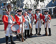 Ceremony of the Keys in Grand Casements Square, Gibraltar, British terroritory in southern Europe