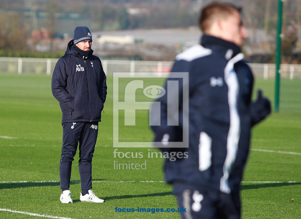 Picture by Paul Terry/Focus Images Ltd +44 7545 642257.05/12/2012.Andre Villas Boas, manager of Tottenham pictured during Tottenham Hotspur training at Spurs Lodge, Enfield.