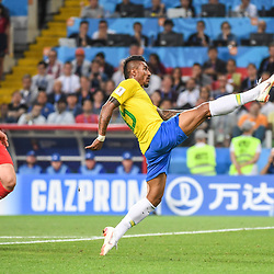 Paulinho of Brazil scores a goal during the FIFA World Cup Group E match between Serbia and Brazil on June 27, 2018 in Moscow, Russia. (Photo by Anthony Dibon/Icon Sport)