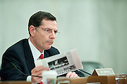 May 18,2010 - Washington, District of Columbia USA - Senator John Barrasso asks questions of Interior Secretary Ken Salazar and members of his oil spill response team, during a Senate Energy and Natural Resources Committee hearing on offshore oil and gas exploration including the accident involving the Deepwater Horizon in the Gulf of Mexico.(Credit Image: © Pete Marovich/ZUMA Press)