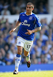 TIM CAHILL.EVERTON FC.EVERTON V LIVERPOOL.GOODISON PARK, LIVERPOOL, ENGLAND.27 September 2008.DIV86012..  .WARNING! This Photograph May Only Be Used For Newspaper And/Or Magazine Editorial Purposes..May Not Be Used For, Internet/Online Usage Nor For Publications Involving 1 player, 1 Club Or 1 Competition,.Without Written Authorisation From Football DataCo Ltd..For Any Queries, Please Contact Football DataCo Ltd on +44 (0) 207 864 9121