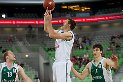 Goran Jagodnik of Union Olimpija during basketball match between KK Union Olimpija and KK Krka in 4th Final match of Telemach Slovenian Champion League 2011/12, on May 24, 2012 in Arena Stozice, Ljubljana, Slovenia.  (Photo by Vid Ponikvar / Sportida.com)