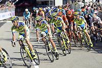 Tosatto Matteo / Contador Alberto  - Tinkoff - Saxo   - 10.05.2015 - 2eme etape du Giro 2015<br />Photo : Sirotti / Icon Sport