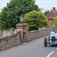 Michele di Paolo and Livia La Terza in their Riley Sprite on the Royal Automobile Club 1000 Mile Trial 2015