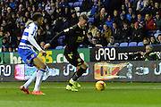 Bolton Wanderers striker Gary Madine carrying the ball down the wing during the Sky Bet Championship match between Reading and Bolton Wanderers at the Madejski Stadium, Reading, England on 21 November 2015. Photo by Mark Davies.