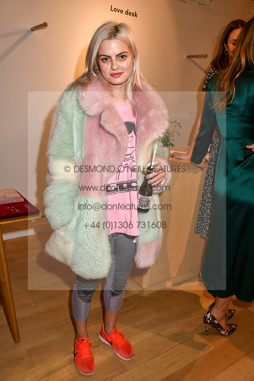 Emma Salahi at a dinner to celebrate the collaboration of jewellers Tada & Toy with Lady Amelia Windsor held at Reformation, 186 Westbourne Grove, London.<br /> <br /> Photo by Dominic O'Neill/Desmond O'Neill Features Ltd.  +44(0)1306 731608  www.donfeatures.com