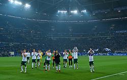 03.02.2018, Veltins Arena, Gelsenkirchen, GER, 1. FBL, Schalke 04 vs SV Werder Bremen, 21. Runde, im Bild die Mannschaft nach dem Abpfiff vor dem Gästeblock // during the German Bundesliga 21th round match between Schalke 04 and SV Werder Bremen at the Veltins Arena in Gelsenkirchen, Germany on 2018/02/03. EXPA Pictures © 2018, PhotoCredit: EXPA/ Andreas Gumz<br /> <br /> *****ATTENTION - OUT of GER*****