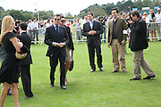 Mr. and Mrs. Pierce Brosnan, Cartier International Polo. Guards Polo Club. Windsor Great Park. 29 July 2007.  -DO NOT ARCHIVE-© Copyright Photograph by Dafydd Jones. 248 Clapham Rd. London SW9 0PZ. Tel 0207 820 0771. www.dafjones.com.