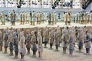 China, Xian Shaanxi, Army of Terracotta Warriors in Emperor Qin Shihuangdis Tomb