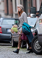 "EXCLUSIVE! - .""Must telephone +441279 324672 For Usage & Reproduction Fees""..REBECCA HALL.carrying a bunch of flowers which was probably used in the photoshoot she was doing..English actress, Hall who is dating Sam Mdendes is filming "" A Promise "" with the French director Patrice Leconte in Belgium. .The period movie also stars Alan Rickman..Mandatory Credit Photos: ©NEWSPIX INTERNATIONAL..**ALL FEES PAYABLE TO: ""NEWSPIX INTERNATIONAL""**..PHOTO CREDIT MANDATORY!!: NEWSPIX INTERNATIONAL(Failure to credit will incur a surcharge of 100% of reproduction fees)..IMMEDIATE CONFIRMATION OF USAGE REQUIRED:.Newspix International, 31 Chinnery Hill, Bishop's Stortford, ENGLAND CM23 3PS.Tel:+441279 324672  ; Fax: +441279656877.Mobile:  0777568 1153.e-mail: info@newspixinternational.co.uk"