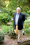 Chip Callaway in a Winston Salem residential garden that he designed.