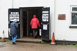 "© Licensed to London News Pictures.  23/06/2016. London, UK.  The Battle of Britain Club in Uxbridge, north west London, welcomes voters in the EU referendum.  Their local MP, Boris Johnson, MP of Uxbridge and South Ruislip, heads the ""Leave"" campaign. Photo credit : Stephen Chung/LNP"