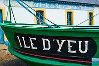 France, Vendée (85), Ile d'Yeu, Port-Joinville // France, Vendée, Yeu island, Port-Joinville