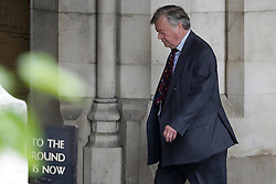 © Licensed to London News Pictures. 05/07/2016. London, UK. KEN CLARKE MP is seen in Westminster ahead of tonight's first round of voting in the Conservative Party leadership race. Ken Clarke and Malcolm Rifkind have been filmed in Westminster making remarks about Tory leadership candidates. Photo credit: Peter Macdiarmid/LNP