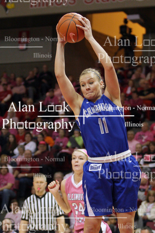 10 February 2013:  McKenzie Fujan during an NCAA women's basketball game where the Creighton Bluejays lost to the Illinois Sate Redbirds 66-60 at Redbird Arena in Normal IL