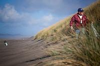 Ocean Conservancy beach clean-up trash in Fort Stevens State beach.