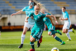 Lea Schuller of Germany and Lana Golob of Slovenia during football match between Slovenia and Germany in Womans Qualifications for World Championship 2019, on April 10, 2018 in Sports park Domzale, Domzale, Slovenia. Photo by Ziga Zupan / Sportida