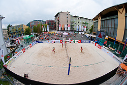 View on the court at Zavarovalnica Triglav Beach Volley Open as tournament for Slovenian national championship on July 30, 2011, in Kranj, Slovenia. (Photo by Matic Klansek Velej / Sportida)