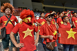 August 20, 2017 - Kuala Lumpur, KUALA LUMPUR, Malaysia - Vietnam supporters react during the women's soccer PRELIMINARY MATCH of the 29th Southeast Asian Games (SEA Games) in Kuala Lumpur, Malaysia on August 20, 2017. (Credit Image: © Chris Jung/NurPhoto via ZUMA Press)
