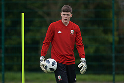 NEWPORT, WALES - Thursday, March 21, 2019: Wales' goalkeeper Rhys Davies during an Under-21 training session at Dragon Park. (Pic by David Rawcliffe/Propaganda)