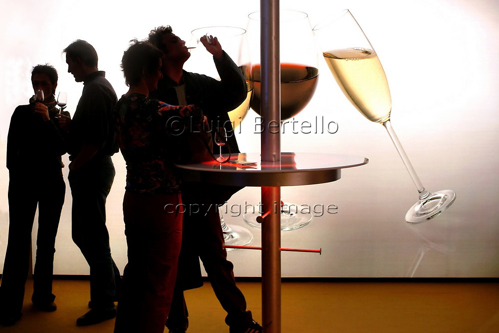 "Turin, Piedmont, Italy. -10/26/2009- Fair ""Wine show"""
