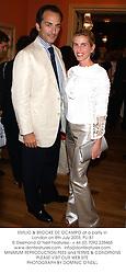 EMILIO & BROOKE DE OCAMPO at a party in London on 8th July 2003.PLI 81