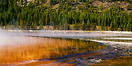 Edge of Grand Prismatic Pool at Midway Geyser
