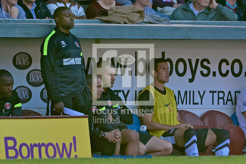 Picture by Ian Wadkins/Focus Images Ltd +44 7877 568959<br /> 28/09/2013<br /> Charlton Athletic manager Chris Powell during the Sky Bet Championship match at Turf Moor, Burnley.