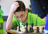 Mark McHugh from Manorhamilton, ponders his next move during the under 13's Chess competition at the Community Games in AIT Athlone. Picture Credit: Frank Mc Grath<br /> 13/8/16