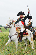 Show of the repost Allies of the bicentenary of the Battle of Waterloo. <br /> Waterloo, 20 june 2015, Belgium<br /> Pics: Napoleon
