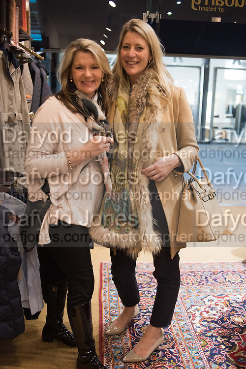 JULIE COOK; KATE DaSilva, Tatler and Dubarry host an evening with Clare Balding, Dubarry of Ireland, 34 Duke of York's Sq. London. 13 October 2016.