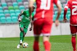 Bagnack Mouegni Macky of NK Olimpija Ljubljana during football match between NK Olimpija Ljubljana and NK Aluminij in Round #27 of Prva liga Telekom Slovenije 2018/19, on April 14th, 2019 in Stadium Stozice, Slovenia Photo by Matic Ritonja / Sportida